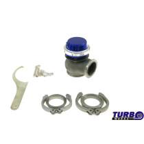 Külső wastegate TurboWorks 50mm 0,5 Bár V-Band Kék
